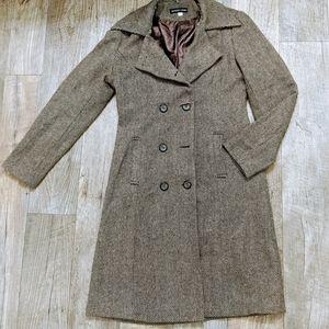 Magic Ann Brown and Cream Chevron Coat